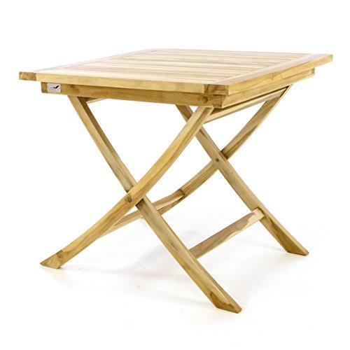 DIVERO Balkontisch Gartentisch Beistelltisch Teak Holz Tisch Für Terrasse  Balkon Garten U2013 Wetterfest Massiv Unbehandelt U2013