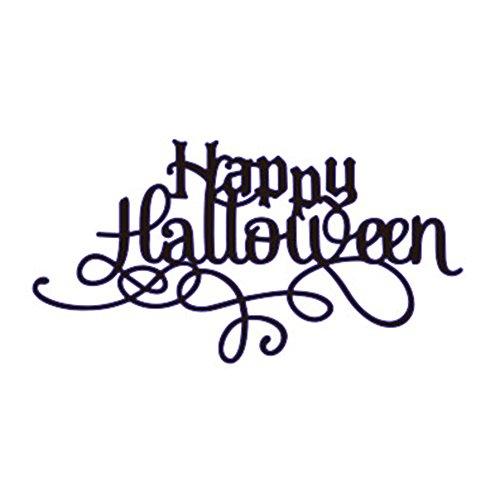 ddfly Happy Halloween Formen DIY Metall Scrapbooking Schablone Karte machen Prägung Papier für Halloween Dekoration Style 2(117x62mm)