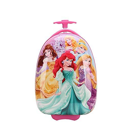 Valigia trolley per bambini valigia cartone animato custodia per bambini guscio d'uovo scuola elementare a forma di uovo cinque principessa 16 pollici