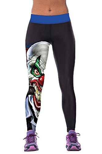 Alive Damen Leggings One size  Gr. One size , (Outfit Girl Clown)