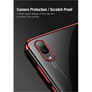 Huawei P20 Pro Case Delhisalesmart [Electroplate Series] Slim Fit TPU Phone Cover with Anti-Slip Grips and Corner Impact Protection for Huawei P20 Pro-Black