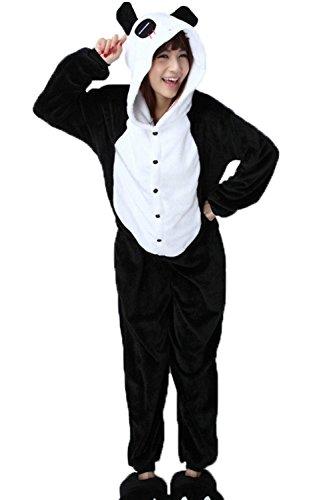 Panda Frauen Kostüme (Anbelarui Panda Kostüm Pyjamas Tierkostüm Schlafanzug Verkleiden Cosplay Kostüm zum Karneval Fasching ()