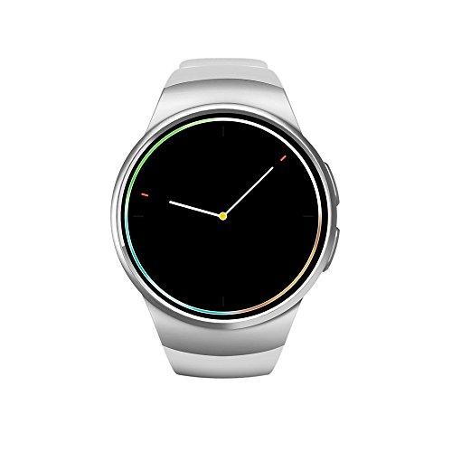 Herzfrequenz überwachende Smartwatch, SUNUNITEC KW18 Fitness Watch unterstützt SIM und TF/SD Karten Telefonüberwachung, Schrittz?hler, Schlafüberwachung, Handyfinder, Bluetooth unterstützt IOS und Android (Silver)