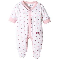 Twins - Pijama Niñas, weiss/rosé, 50/62/Recién nacido/56/1 Mes/62/3 meses