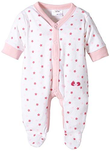 Twins Baby - Mädchen Schlafstrampler mit Sternchen, All over print, Gr. 80, rosa (weiss/rosé)