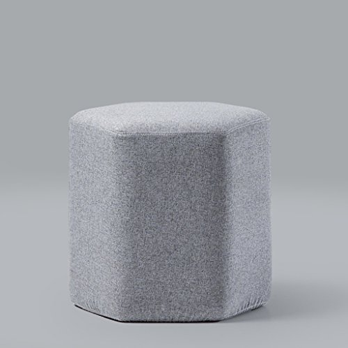 Tissu hexagonal chaussures tabouret maison salon canapé tabouret simple moderne tabouret 42 * 42 * 40 cm (Color : Gray)