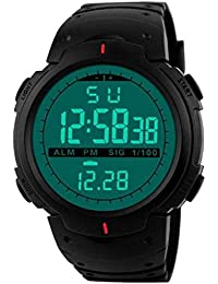 Axe Style X-1254 Digital Green Dial Military Multi-Color Strap Men's & Boy's Watch