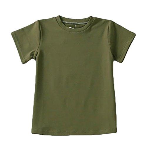 WanYang Donne T-shirt Cime Camicie Tops Estate Magliette Manica Corta Camicie Cime Tops Oliva