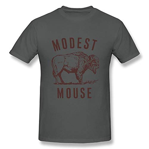 Modest Mouse T-shirt (Allenvin Mens Cotton Modest Mouse T Shirt Asphalt,Asphalt,4X)