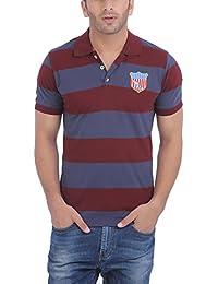 AMERICAN CREW Men's Polo Stripes T-Shirt