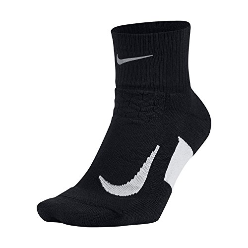 Nike Herren Elite Lightweight Quarter Laufsocken, Black/White, 44 -