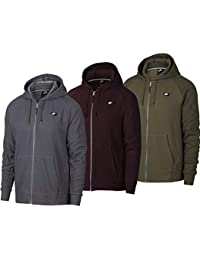 Nike M NSW Optic Hoodie FZ - Sudadera, Hombre, (Olive Canvas/HTR
