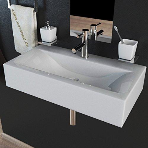 Design Keramik Waschbecken Waschtisch Waschschale Aufsatzwaschbecken Aufsatzwaschtisch Gäste WC Becken KBW153 BxTxH 45x30x10cm