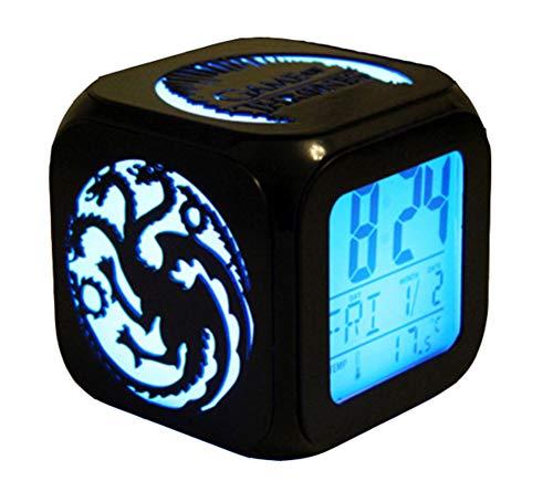 Elektronischer Wecker für die Nacht  Kreativer stereoskopischer 3D-Wecker  LED-Nachtlicht,...
