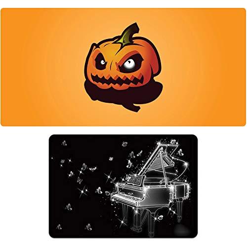 XF Oversized + kleines Mauspad-Set, Game Esports periphere Mauspad, personalisierbare Tischmatte, Naturkautschuk, rutschfest, 3 mm dick, Halloween-Fach