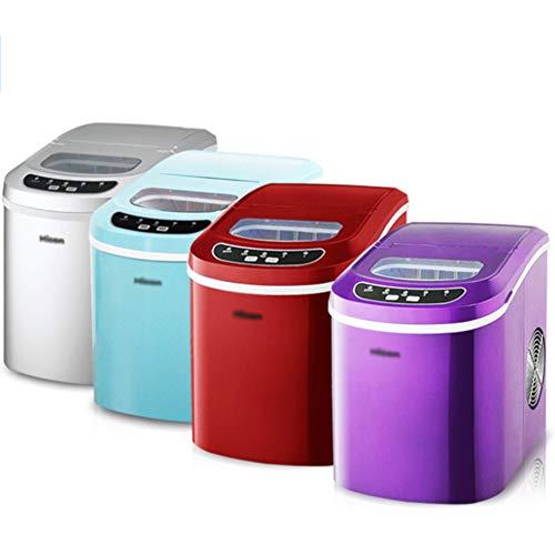 TX Ice Maker Maschine FüR Zu - Bester Ice WüRfel, Mit Tragbarer Arbeitsplatte Wo Die EiswüRfel Maschine - 25Kg In 24 Stunden Herstellt,Kommerzielle Kleine Teestube Ktv,Purple - Mit Ice Maker Kühlschränke