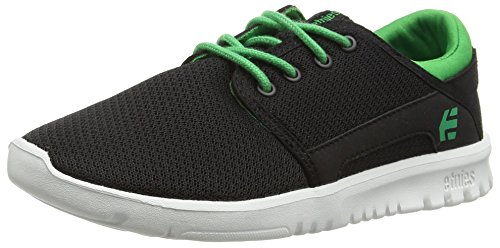 Etnies KIDS SCOUT, Chaussures de Skateboard mixte enfant Noir - Schwarz (985 / BLACK/GREEN)