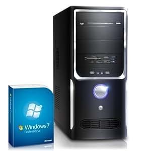 Silent multimedia PC! CSL Sprint 5787uPro (Quad) incl. Windows 7 Professional- computer-system with AMD A8-6600K CPU 4x 3900 MHz, 1000GB SATA, 16GB DDR3 RAM, Asus Mainboard, Radeon HD 8570D 2 GB