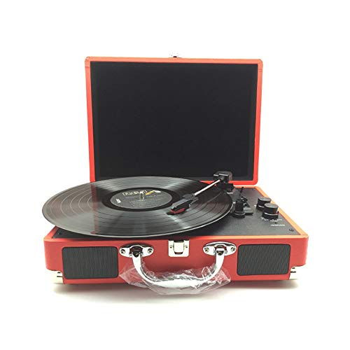 Haut-parleur sans fil Bluetooth Platine vinyle portable Record Machine Vintage Vinyle Multi-fonctionnel Phonographe Tourne-disque Bluetooth Haut-parleurs Valise Platine Avec Bluetooth Home Décoration