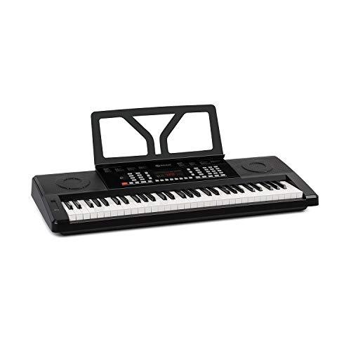 Schubert Etude 61 MK II Digital Keyboard - Tasten-Keyboard, 61 Tasten, Lern- und Aufnahmefunktion, 50 Demo-Songs, 300 Klänge/Rhythmen, Netz- und Batteriebetrieb, inkl. Notenständer, schwarz