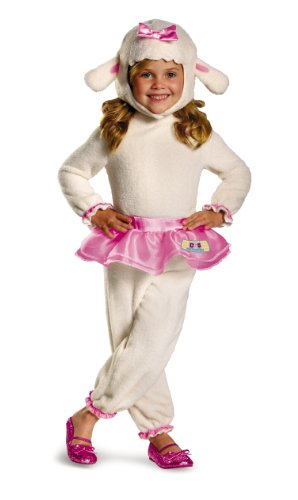 Kostüme Lambie (Disguise Disney Doc Mcstuffins Lambie Classic Toddler Costume, Large/4-6x by)