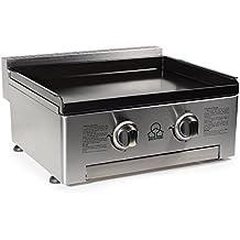 FireFriend BQ-6394 - Placa de cocción a gas, color plateado