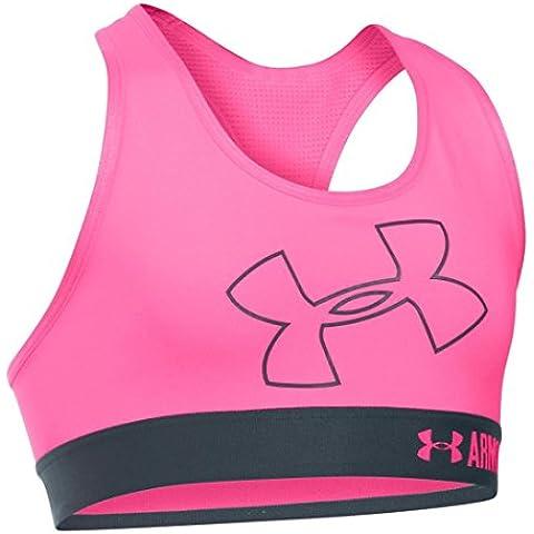 Under Armour ragazza bustino and Top Logo Armour Bra, Bambina, Fitness Bustier and Top Logo Armour Bra, Pink Punk