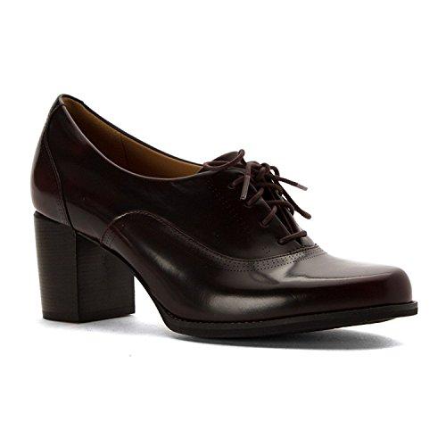 Clarks Frauen Tarah Victoria Runder Zeh Leder Klassische Pumps Rot Groesse 11 US/42 EU (Schuhe Damen Clogs Clarks)