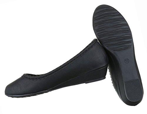 Damen Pumps Schwarz Beige Keil Schuhe Wedges rTwZrUxq