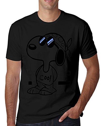 LukeTee Snoopy Joe Cool Blue Sunglasses Men's T-Shirt Medium