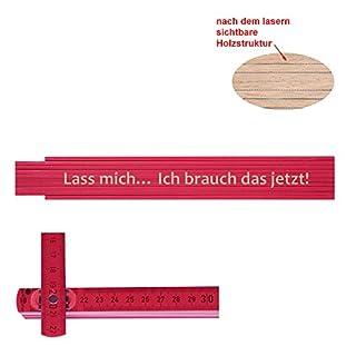 Persönlicher Zollstock / Meterstab pink mit Gravur Lass mich… Ich brauch das jetzt!