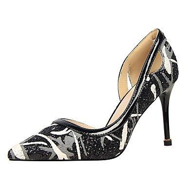 Moda Donna Sandali Sexy donna tacchi inverno abito Comfort Stiletto Heel altri nero / viola / Argento / Oro / Bianco e Nero a piedi Black