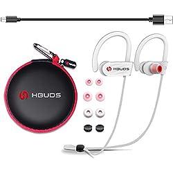HBUDS Casque Bluetooth 4.1 Écouteurs Audio sans Fil Sport H1 avec Mic Casque de Sport Intra-Auriculaires Anti Bruit pour iphone 7 Plus iphone 8 Samsung