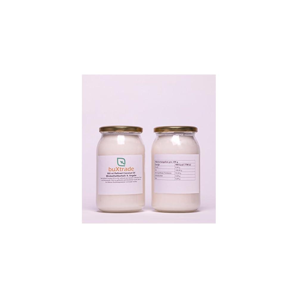 1 Glas 900ml Refined Coconut Oil Kokosnussl L Kochen Kokosnuss Kokosl Kokosfett