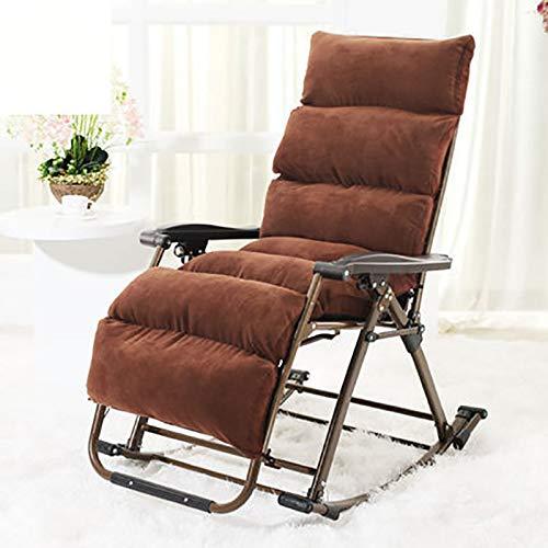 Jian E- Chaise Pliante - Fauteuil à Bascule inclinable Sieste Chaise de Balcon Fauteuil Pliant pour Le déjeuner Chaise Longue/- (Couleur : C)