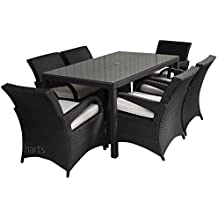 roe office furniture. roe gardens premium rattan 6 seat dining set with 15m table and large comfortable chairs cover black office furniture