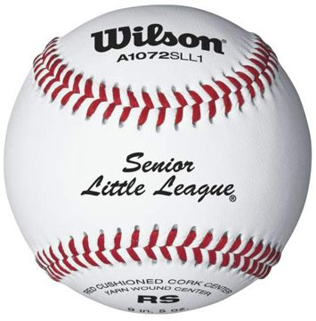 Wilson A1072 Senior Little League Series Baseball (12-Pack),