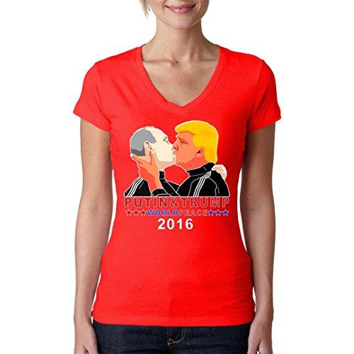 Im-Shirt - Wladimir & Donald - Bruderkuss 2016 cooles Fun Girlie Shirt - verschiedene Farben Rot