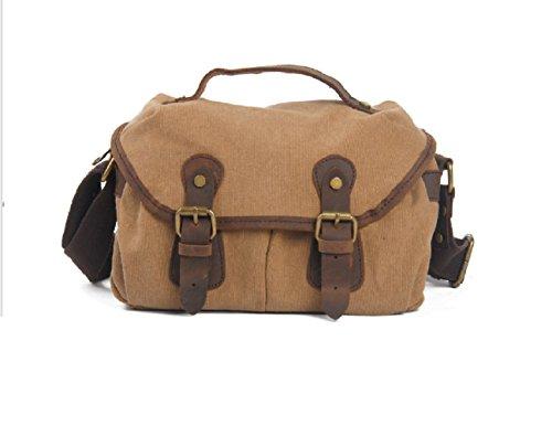 Hobo-khaki (Nasis Fashion Unisex Canvas Leder Umhängetasche Schulttasche Multifunktion Tasche Alltagtasche Hobo AL4020 (khaki))
