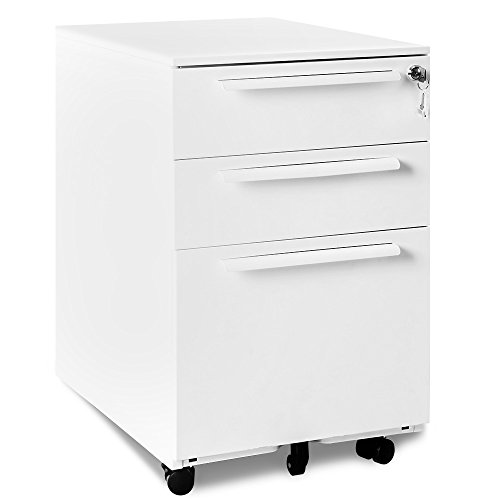 Rollcontainer Abschließbar inkl. 3 Schübe, grundsolide Verarbeitung, Schreibtisch Container...