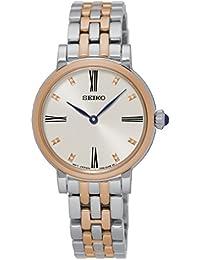 Seiko–Reloj de pulsera analógico para mujer cuarzo acero inoxidable sfq816p1