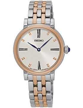 Seiko Damen-Armbanduhr Analog Quarz Edelstahl SFQ816P1