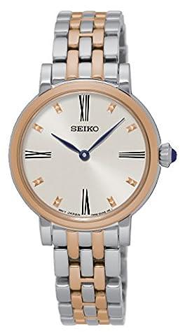 Seiko Women's Quartz Watch with Black Dial Analogue Display Quartz