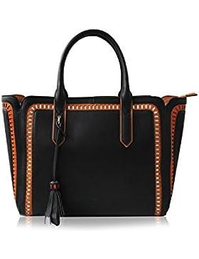 LYDC London Damen Handtasche PU-LEDER Shopper Tasche