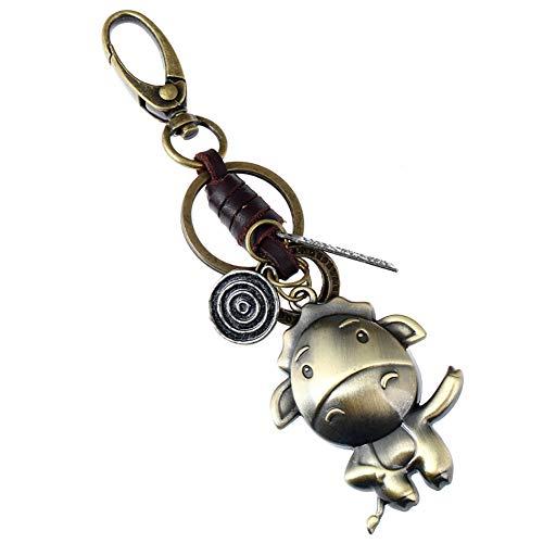 CAOLATOR Schlüsselanhänger Tiere Keychain Vintage Schlüsselring Legierung Fahrzeugschlüssel Dekor Auto Handtaschenanhänger Geeignet für Männer und Frauen Pferd