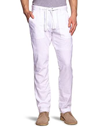 TOM TAILOR Herren Hose 64008810110/casual linen pants, Gr. 29/32, Weiß (2000 white)
