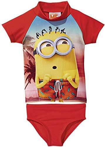 Golden Lutz® Kinder Jungen UV-Schutz-Anzug für Wasser und Strand, Zweiteilig (Minions, Gr. 110/116) (Kinder Minion Anzug)