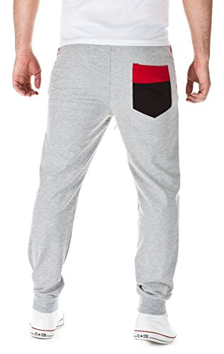 YAZUBI Jogginghose - Trainingshose 1178 - H/M 2015 Grey/Black/Red