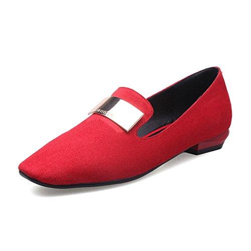 scarpe piatte moda retr¨° donna/Joker testa luce scarpe basse in primavera C