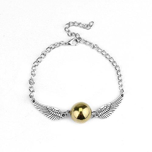 Bracelet Vif d'or Harry Potter couleur Or et Argent - environ 25 cm - réglable - bijou
